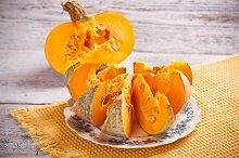 Fresh pumpkin slice