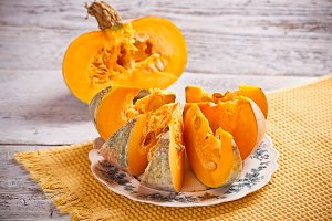 Fresh pumpkin slice