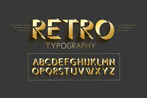 retro typography design
