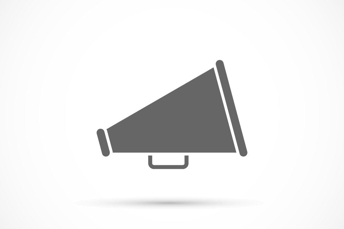 Megaphone icon icons creative market publicscrutiny Gallery