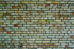 Texture of multicolored brick wall