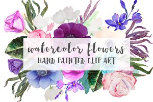 "Watercolor Flowers ""Anemone"""