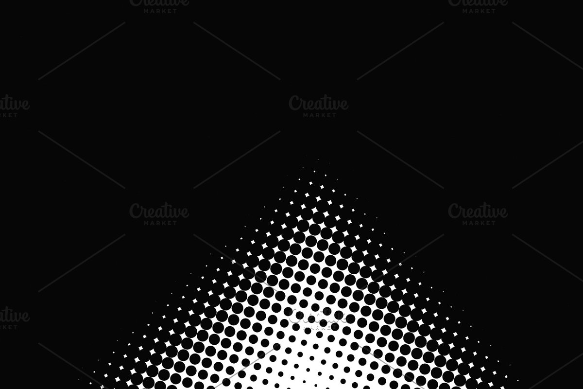 Background of white dots on white background and black