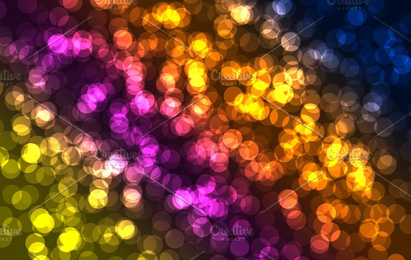 Abstract multi-colored background with circles of different sizes