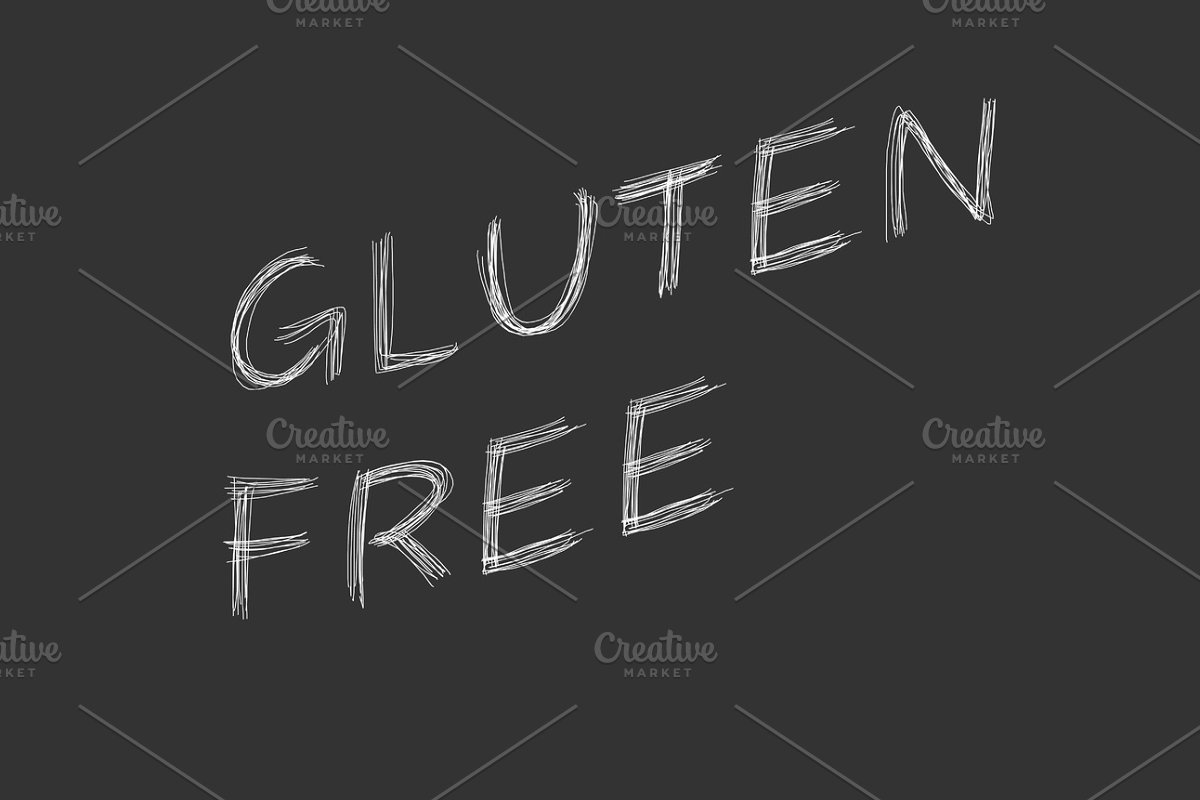 Illustration with the words Gluten Free in Illustrations - product preview 8