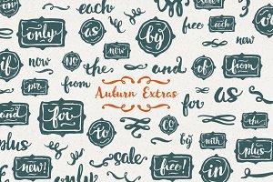 Auburn Extras Font + Vector
