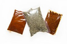 different spices: