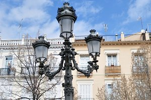 streetlight and balconies