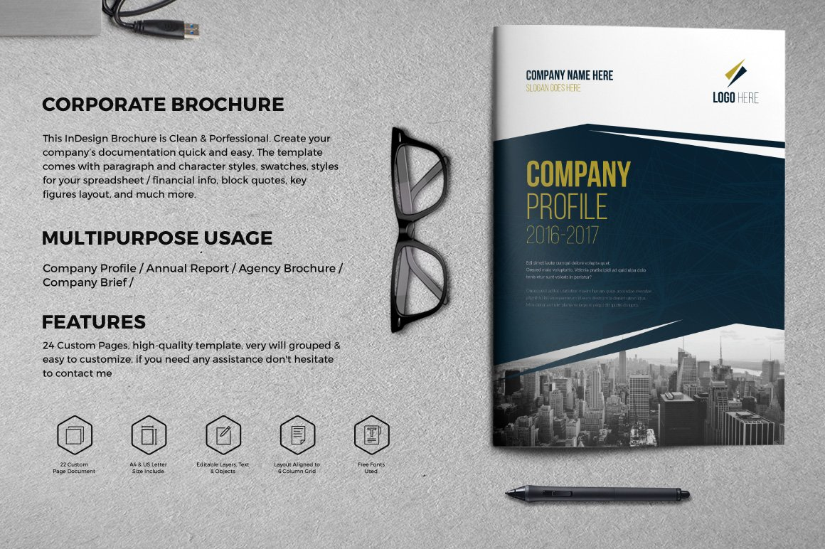 Creative corporate brochure 24 page brochure templates for Ad agency profile