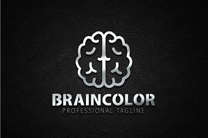 Brain Color Logo