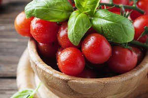 Fresh tomato and basil