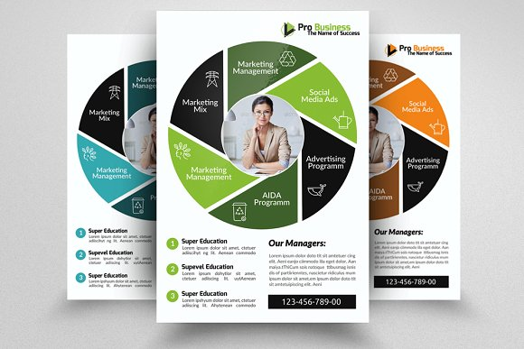 6 creative business flyers bundle flyer templates creative market
