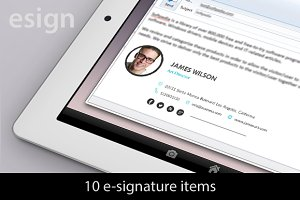 10 eMailing Signatures (10items)