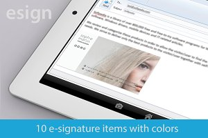 10 Email signatures - modern items