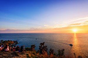 Sunset at Laem Phromthep Cape