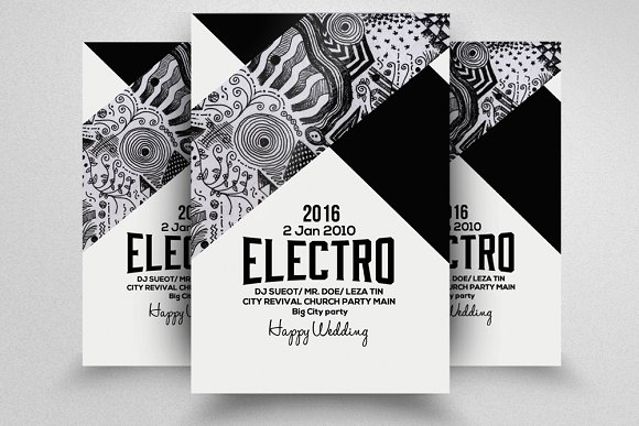 Electro Party Flyer Template in Templates