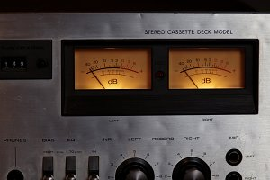 VU meters closeup