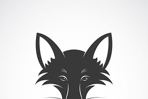 Vector image of an fox face design