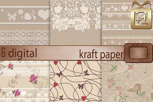 6 digital Kraft paper