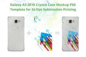 Galaxy A3 2016 3d Crystal Case