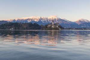Lake Bled on a spring evening