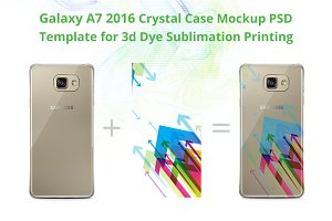 Galaxy A7 2016 Crystal Case Mock-up