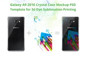Galaxy A9 Crystal Case Mockup