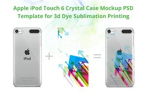 iPod Touch Crystal Case Mockup