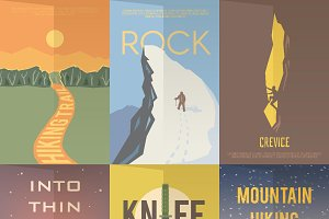 Vintage climbing posters