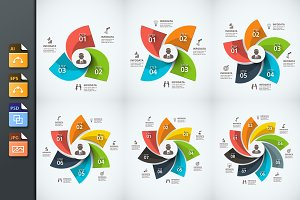 Infographics template set v.25