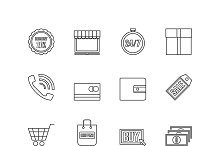 online shopping [16 outline icon]