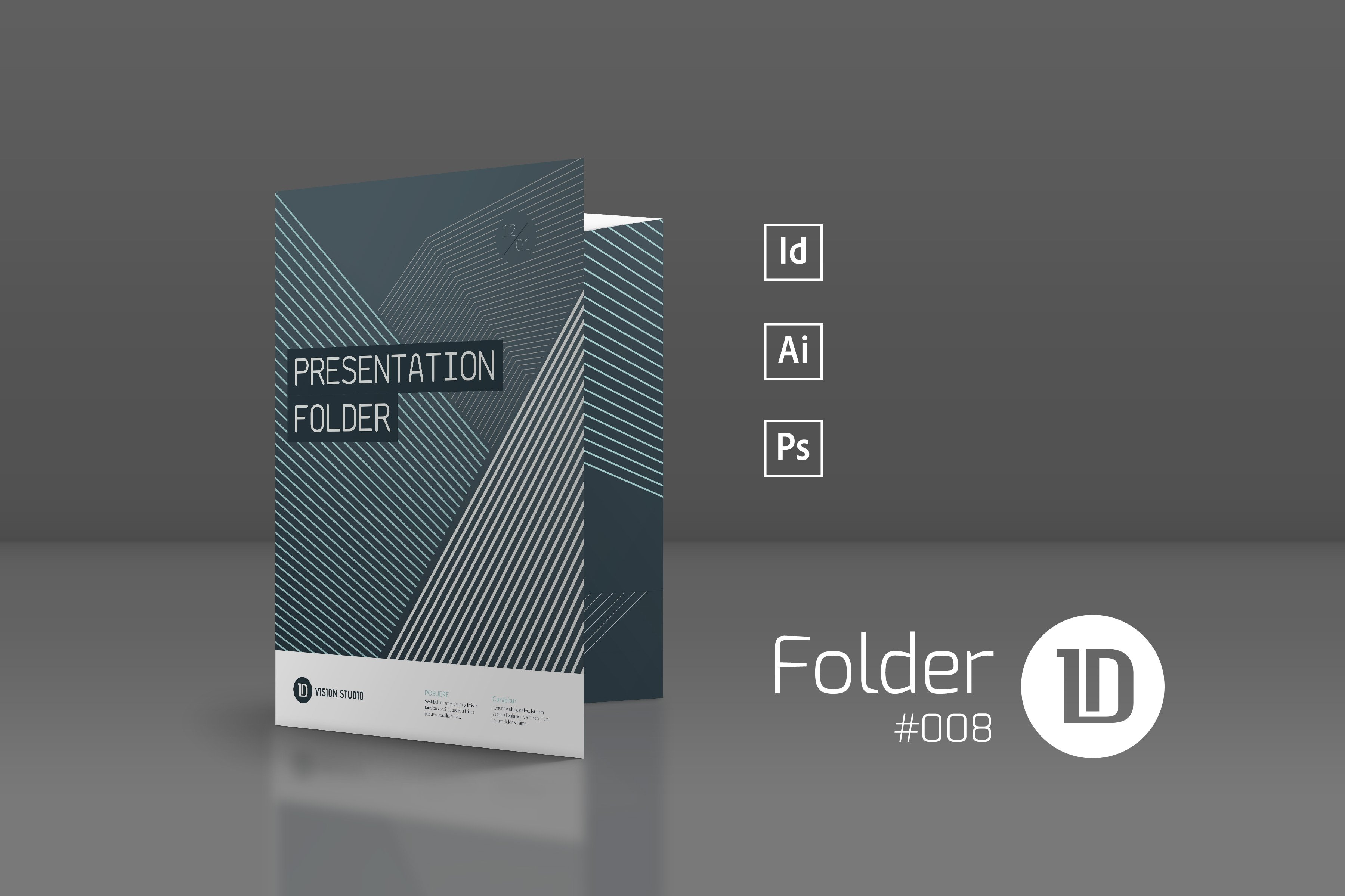 Presentation Folder Template 008 Stationery Templates Creative