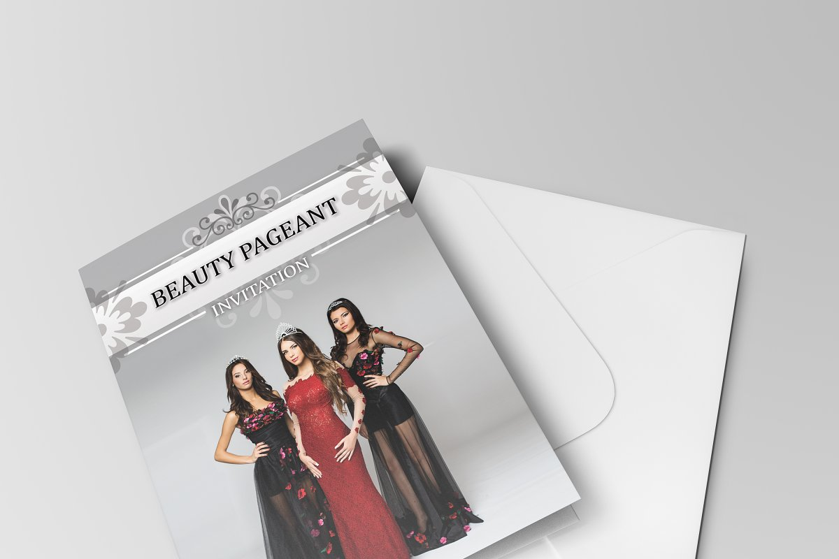 Beauty Pageant Invitation Invitation Templates Creative Market