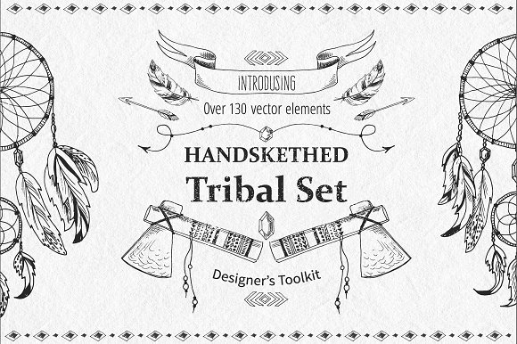 Tribal Design Vector Set Vol.2 - Graphics