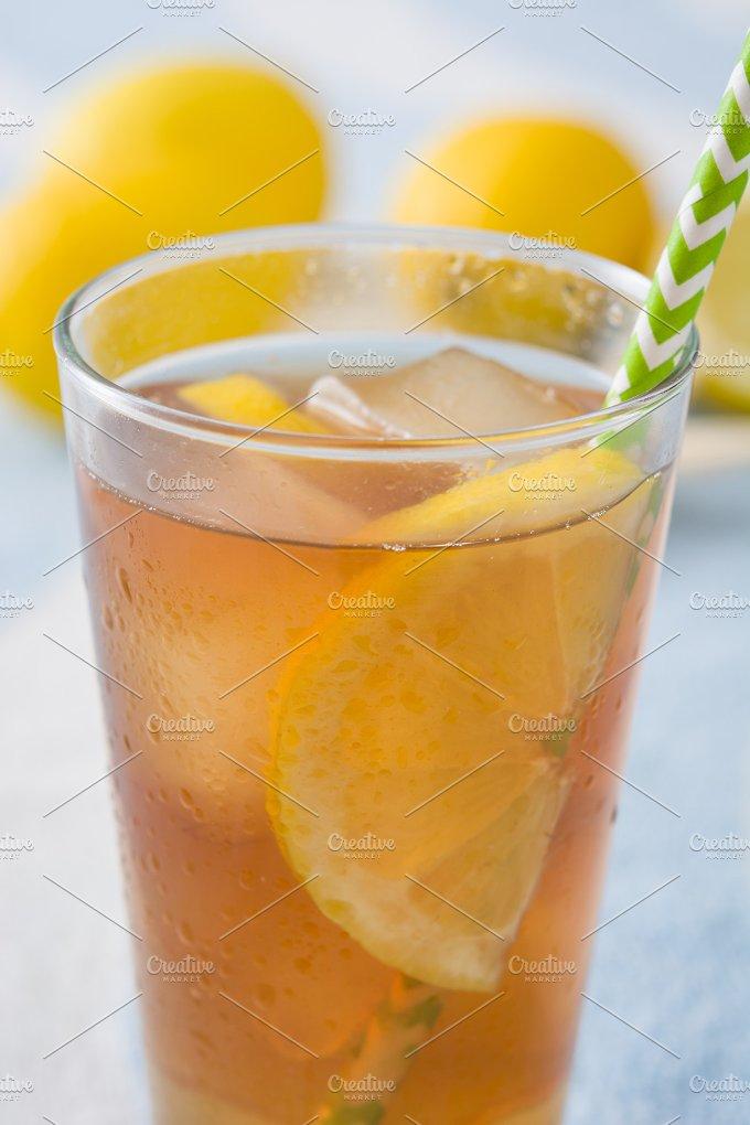 Ice tea with lemon. Summer drink - Food & Drink