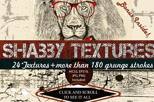 Grunge vector textures collection