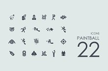 22 Paintball icons
