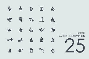25 Water Consumption icons