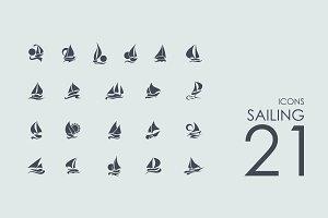 21 Sailing icons