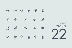 22 Diving icons