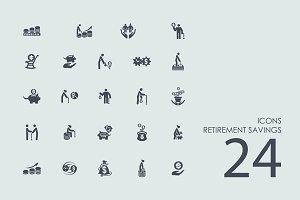 24 Retirement Savings icons
