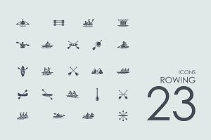 23 Rowing icons