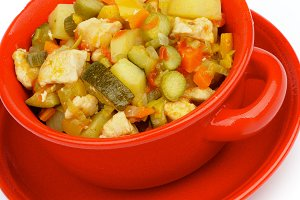 Vegetables and Chicken Ragout