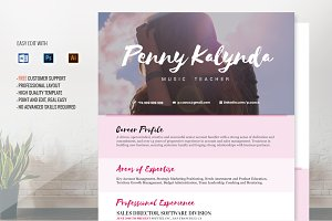 Resume Template Kalynda