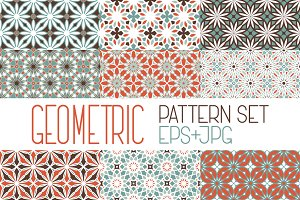 9 geometric patterns set