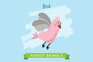 Bird Vector, forest animals.