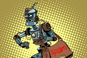 Electronic spam robot postman email