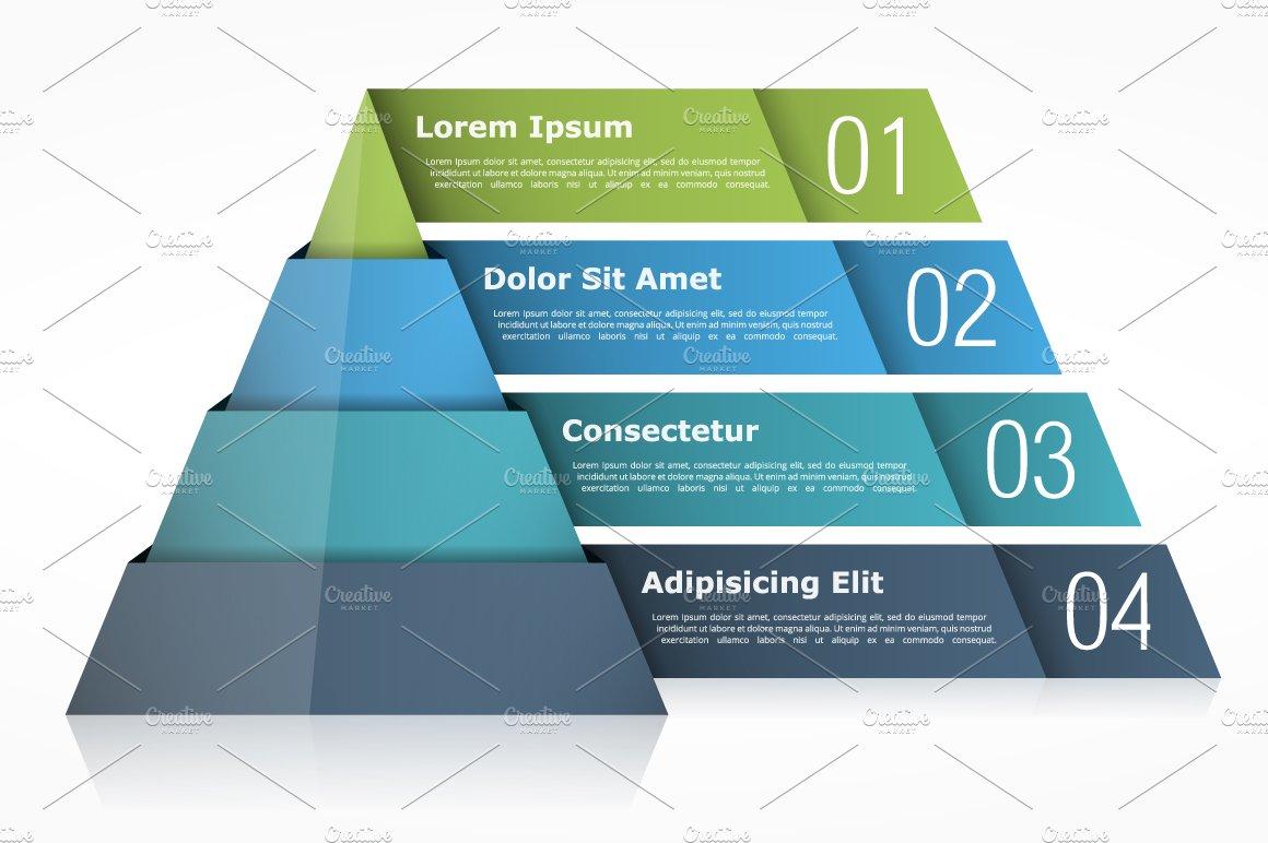 Pyramid Chart Graphics Creative Market