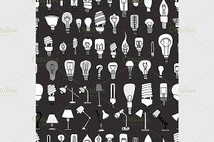 Cute Vintage Bulb Doodle