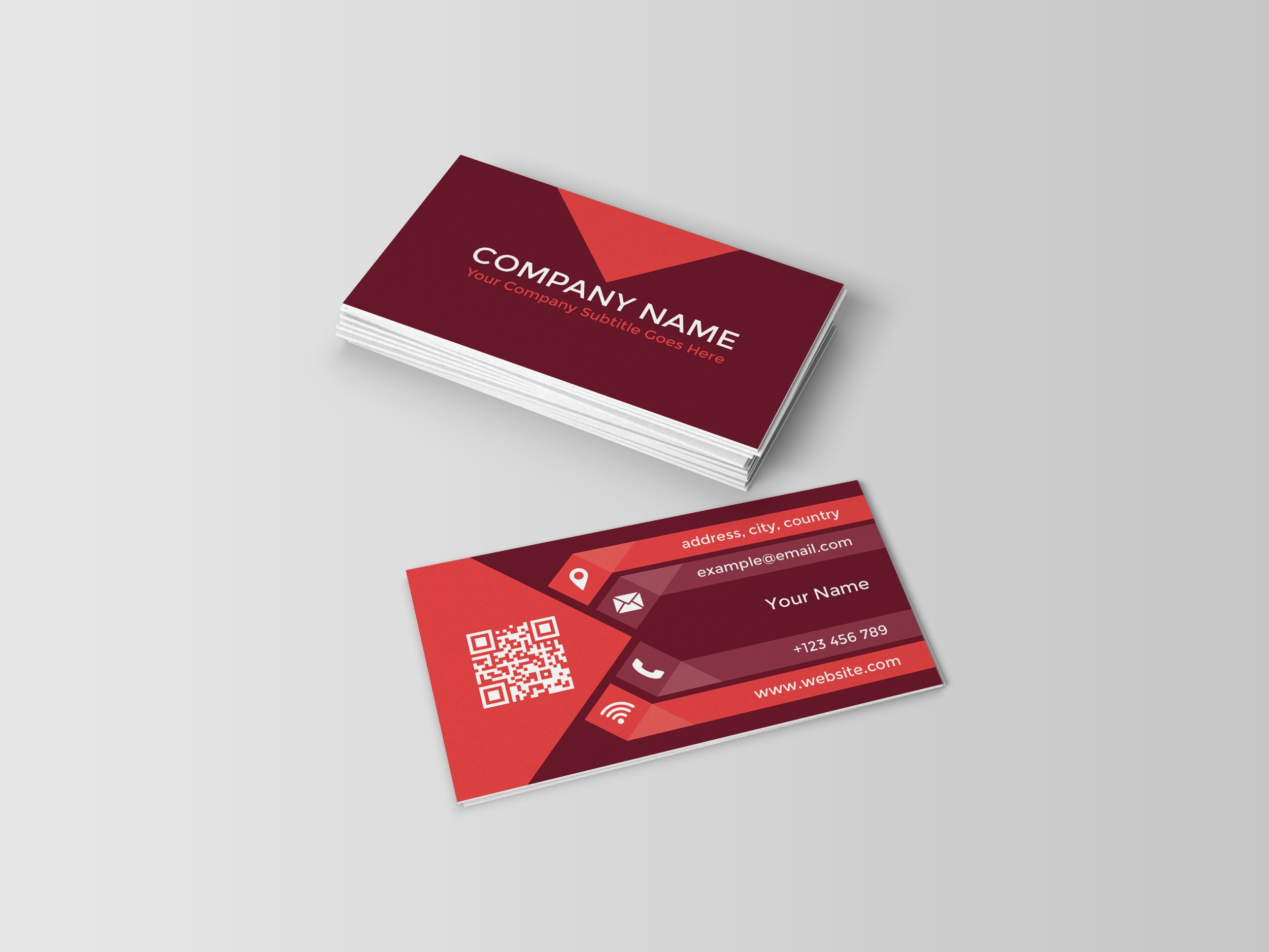 Multipurpose qr code business card business card templates multipurpose qr code business card business card templates creative market reheart